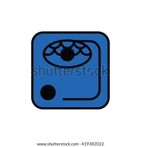 Mayan calendar symbol. Solar seal icon. Solar kin vector illustration. Dreamspell Mayan calendar. Blue Rhythmic Storm - stock vector