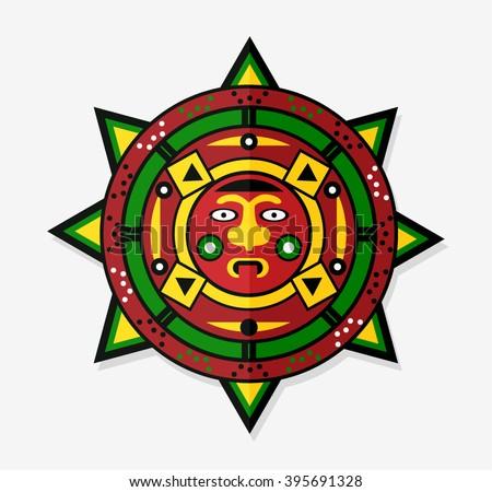 Mayan Sun Icon Symbol Stock Vector Hd Royalty Free 395691328