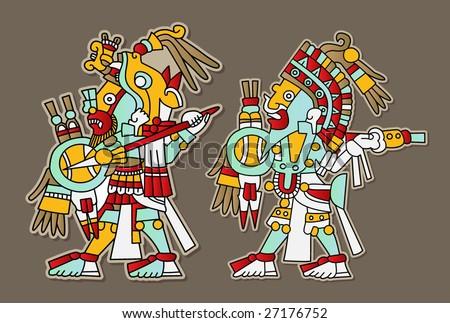 Mayan vector set - stock vector