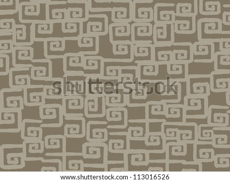 Mayan wallpaper, vector illustration - stock vector