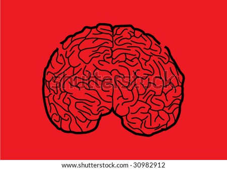 maze brain - stock vector