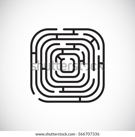 maze labyrinth icon - stock vector