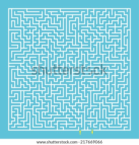 Maze, labyrinth. Tangled mystery. challenge the thinking puzzle. vector - stock vector