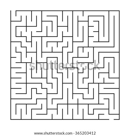 Maze / labyrinth, vector illustration - stock vector