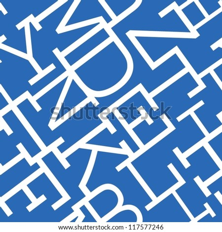 Maze of letters. Seamless pattern. - stock vector