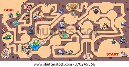 Maze of underground - stock vector