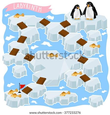 Maze vector. Maze game. Cartoon maze. Educational children game. Funny maze. Vector labyrinth. Children logic game. Cartoon labyrinth. Lost way kids game. Maze. Education maze game. Labyrinth game. - stock vector