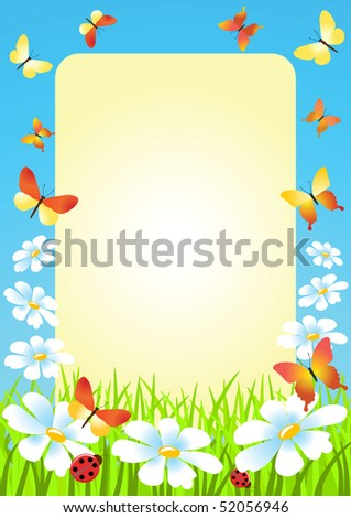 Meadow. Summer morning. Vector illustration.