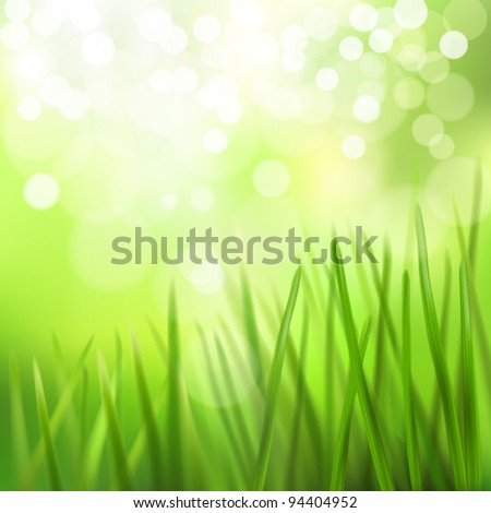 Meadow. Vector illustration. - stock vector