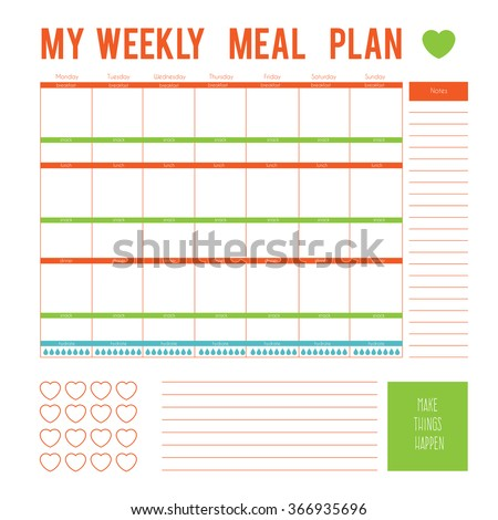 Meal Plan Stock Photos, Royalty-Free Images & Vectors - Shutterstock