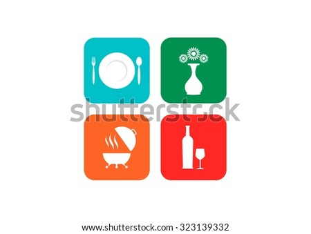 Meal vector icons - stock vector