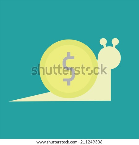 mean to slow income, money concept - stock vector