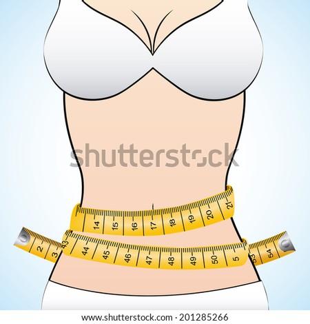 Measure design over white background, vector illustration - stock vector