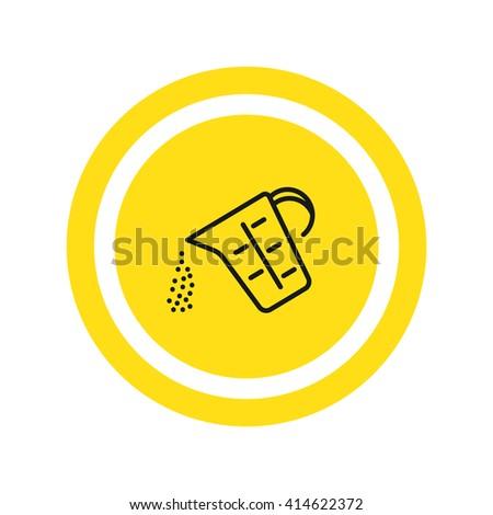 Measuring cup Icon. Measuring cup Icon Vector. Measuring cup Icon Art. Measuring cup Icon eps. Measuring cup Icon JPG. Measuring cup Icon logo.Measuring cup Icon Sign.Measuring cup Icon Flat - stock vector