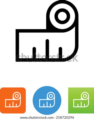 Measuring tape. Vector icons for video, mobile apps, Web sites and print projects.  - stock vector