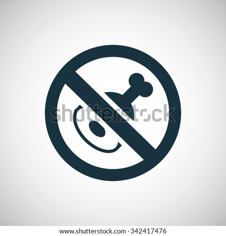 meat forbidden icon, on white background  - stock vector