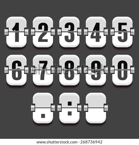 Mechanical Dial with a set of numbers in a vector - stock vector