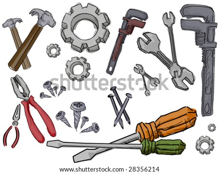 Mechanical Doodles - Vector - stock vector