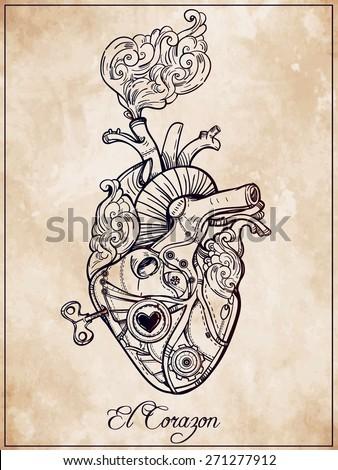 anatomisches herz schwarze tattoos and herz on pinterest. Black Bedroom Furniture Sets. Home Design Ideas