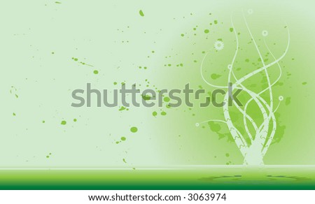 mechanical plant background - stock vector