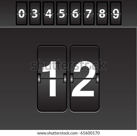 Mechanical scoreboard-Vector - stock vector