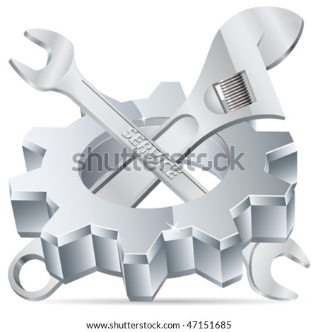 Mechanical tools - vector illustration