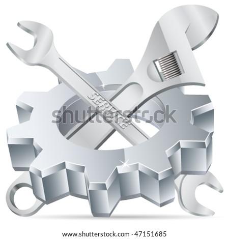 Mechanical tools - vector illustration - stock vector
