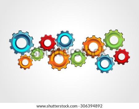 Mechanism concept illustration. Cogwheel gear mechanism concept illustration. - stock vector
