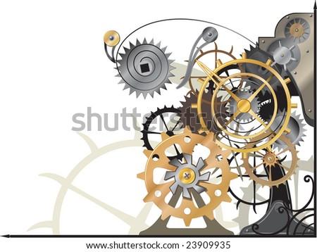 Mechanism new - stock vector