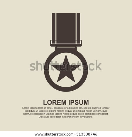 Medal icon - Vector - stock vector