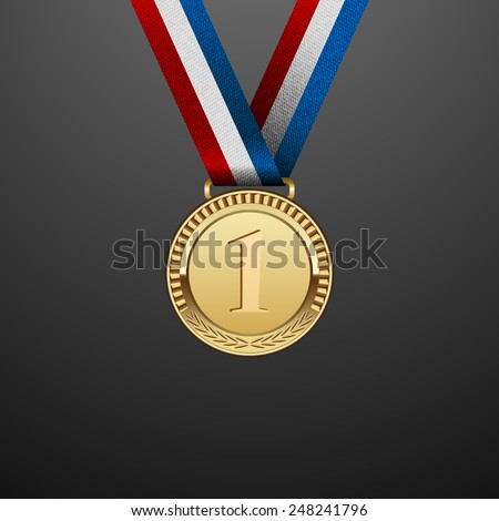 Medal winner. Vector - stock vector