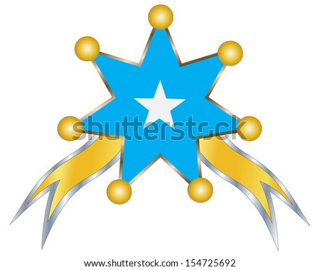 medal with the national flag of Somalia - stock vector