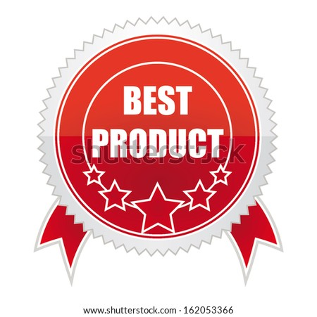 Medals best product - stock vector