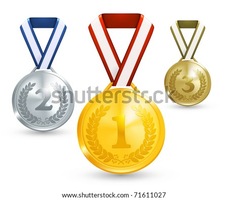 Medals, 10eps - stock vector