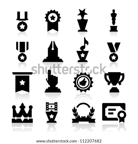 Medals icons - stock vector