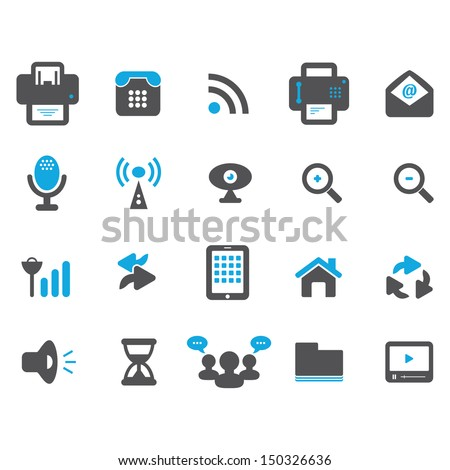 Media and Communication Icon - Color - stock vector