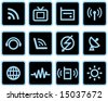Media & Communications  - Vector Icons Set - stock vector