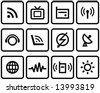 Media & Communications  - Vector Icons Set  You'll find more icons like this in my portfolio - stock photo