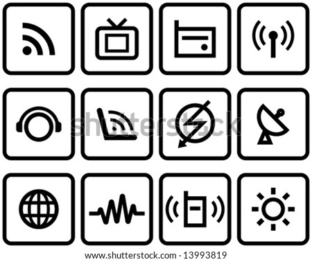 Media & Communications  - Vector Icons Set  You'll find more icons like this in my portfolio