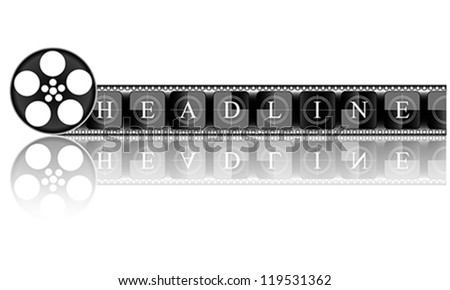 Media. Electronic HEADLINE, vector - stock vector
