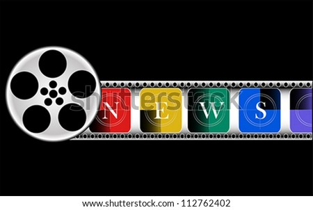 Media, Electronic news, vector - stock vector