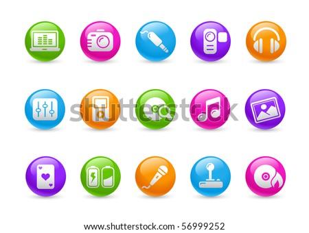 Media & Entertainment // Rainbow Series - stock vector