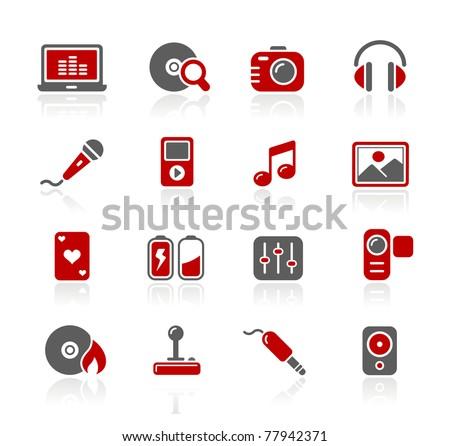 Media & Entertainment Web Icons // Redico Series - stock vector