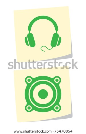 Media Equipment Icons - stock vector