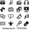 Media icon series set.  A series set of icons relating to various types of media. - stock vector