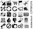 Media Icons. Communication channels. Social icon set. Simplus series. Each icon is a single object (compound path) - stock photo