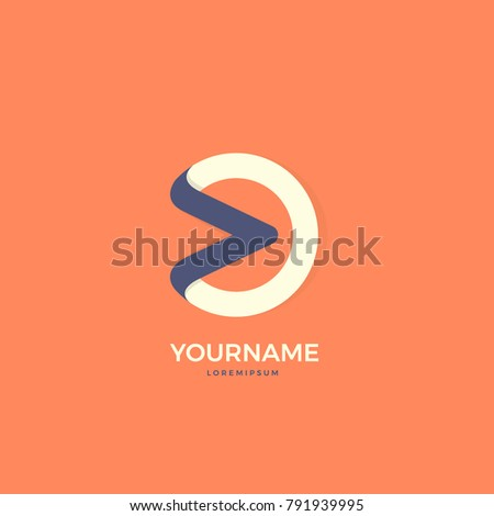Media Player Latter O One Symbol Stock Vector Hd Royalty Free