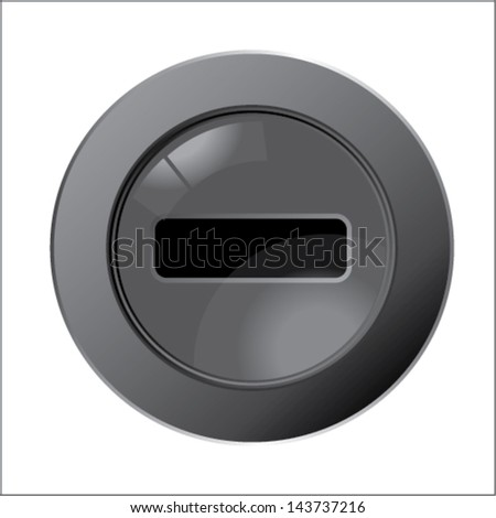 media player buttons Delete - stock vector