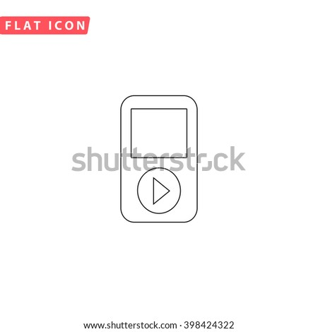 Media player Icon Vector. Media player Icon JPEG. Media player Icon Picture. Media player Icon Image. Media player Icon JPG. Media player Icon EPS. Media player Icon AI. Media player Icon Drawing - stock vector