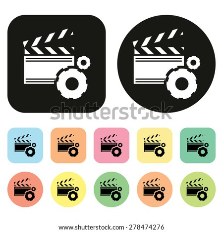 Media Player icon. Video player icon - stock vector